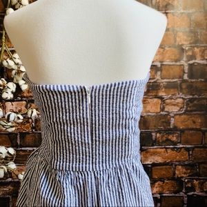Judith March Searsucker Strapless Dress with Bow